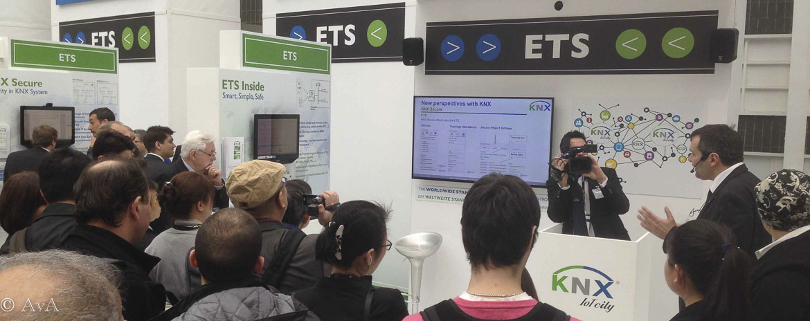 high interest on KNX booth